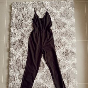 ✨Missguided Jumpsuit w/ Lace Panels in Black